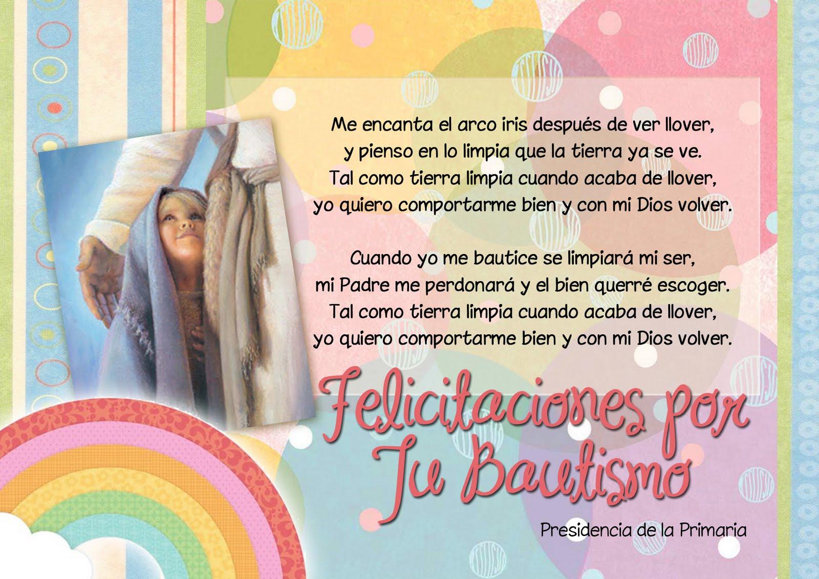 tarjeta bautismo - Conexión SUD