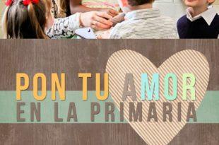 Pon tu amor en la Primaria durante el tiempo para compartir y las clases