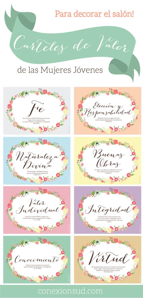 Carteles de los Valores de las Mujeres Jóvenes - Conexión SUD