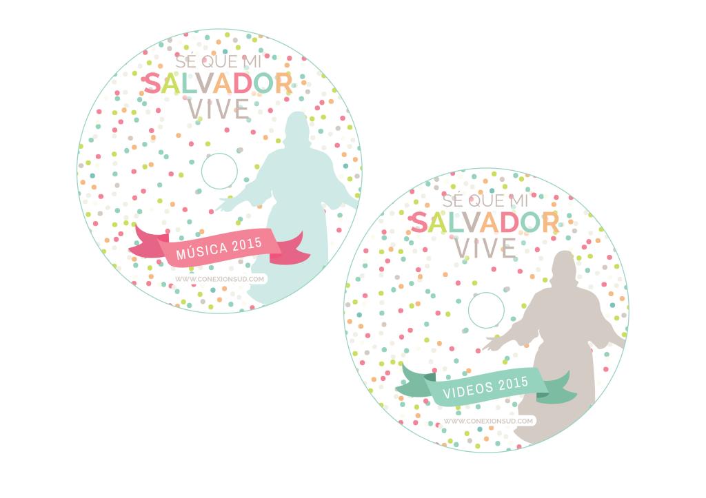 Etiqueta CD y DVD Música de la Primaria 2015 - ConexionSUD