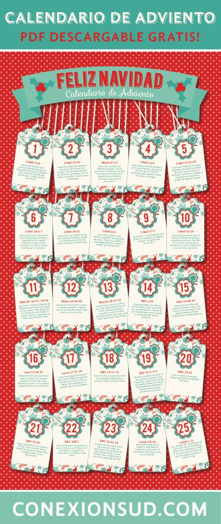 10 Calendarios de Adviento para armar- Conexion SUD
