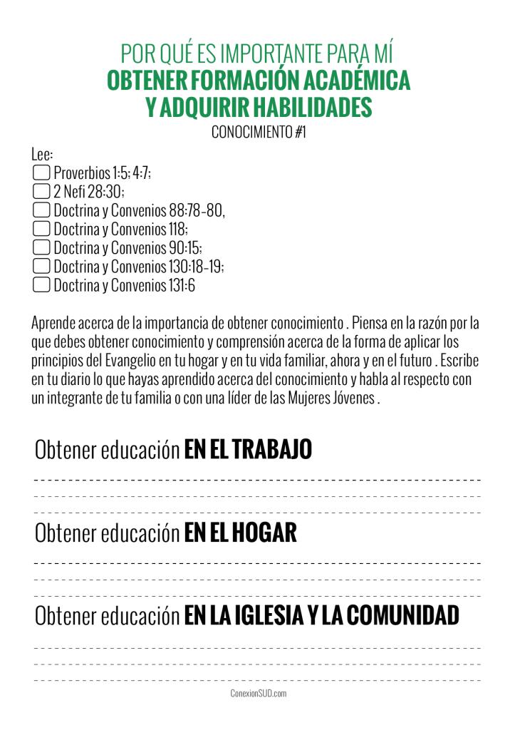 Educación Academica - Progreso Personal Conocimiento 1 - ConexionSUD