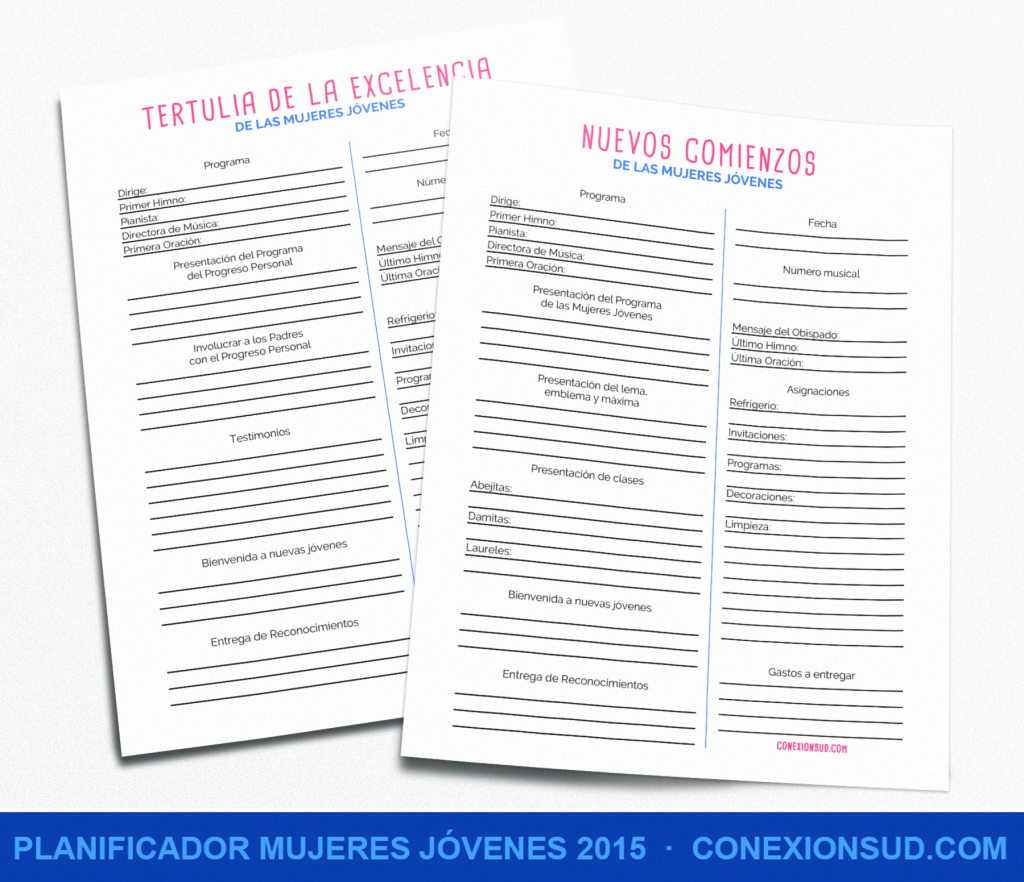 Planificador Mujeres Jóvenes 2015 - Conexión SUD