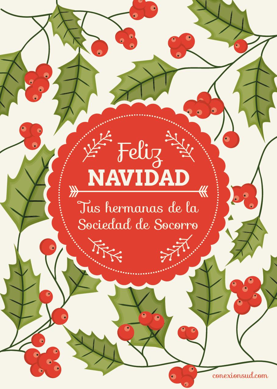 Tarjeta de Navidad Sociedad de Socorro - Conexión SUD