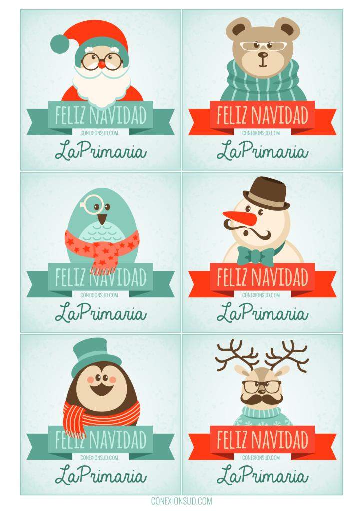 Tarjetas Navidad Primaria - Conexión SUD
