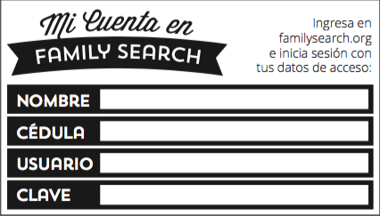 clave Family Search LDS Account