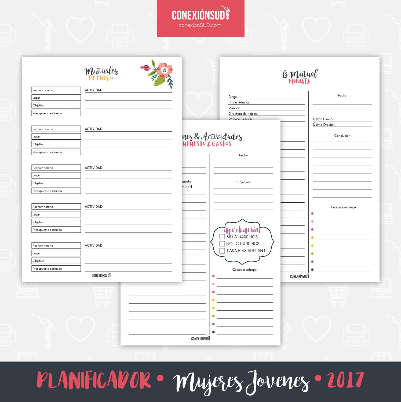 Planificador de Mujeres Jovenes 2017 - Conexion SUD