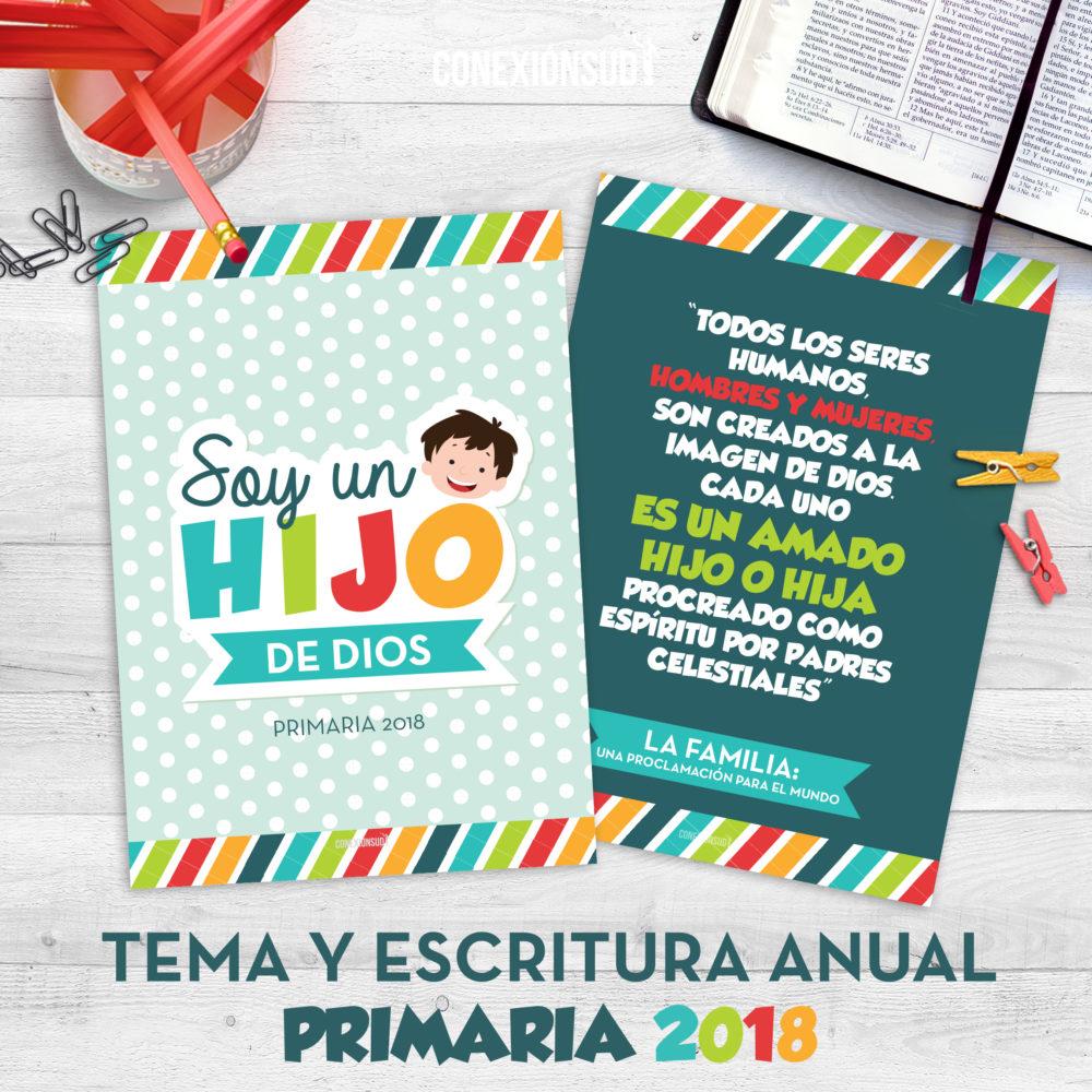 Cartelera de la Primaria 2018 - Soy un Hijo de Dios - ConexionSUD