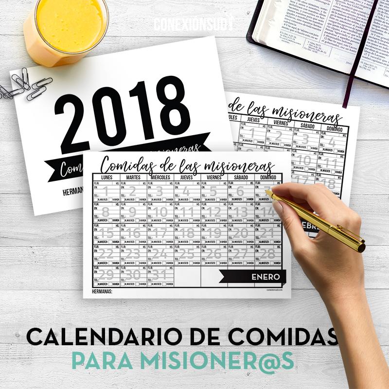 Calendario de Comida para los Misioneros - ConexionSUD