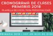 Cronograma de Clases de la Primaria 2018