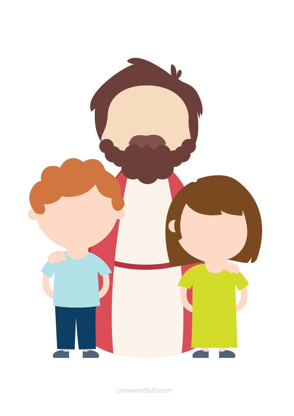 jesus con los niños - oracion de un niño_ConexionSUD-03
