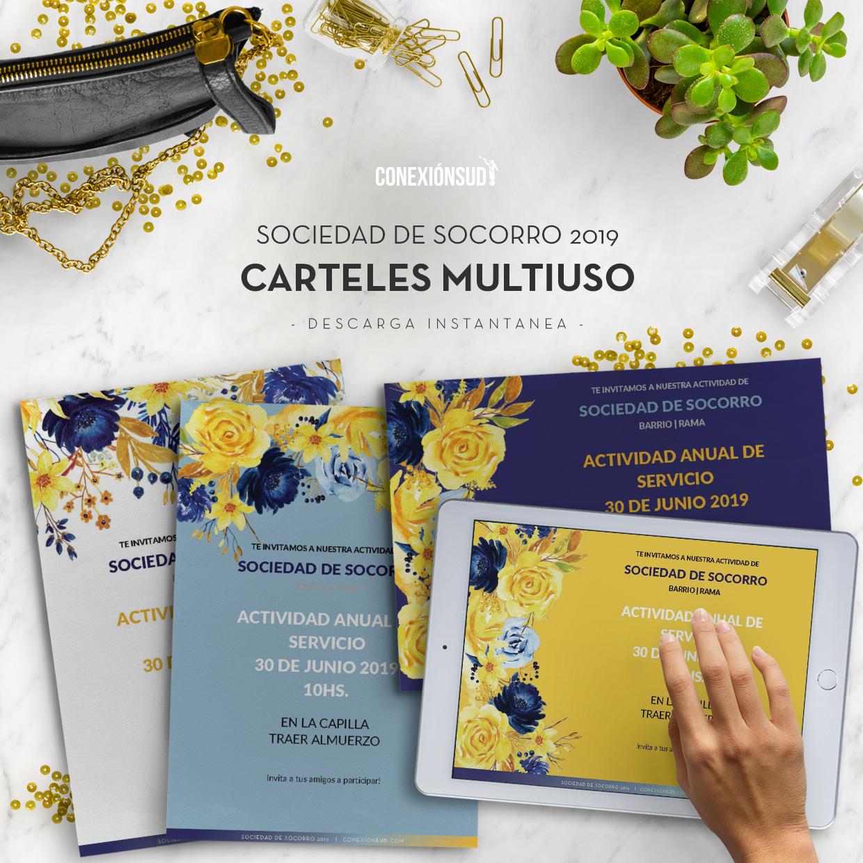 invitaciones multiuso sociedad de socorro 2019 conexión sud