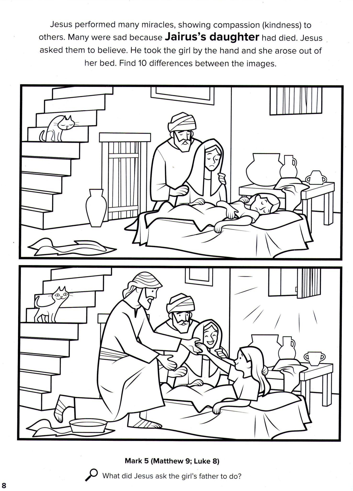 La hija de Jairo (Marcos 5:22–23, 35–43)