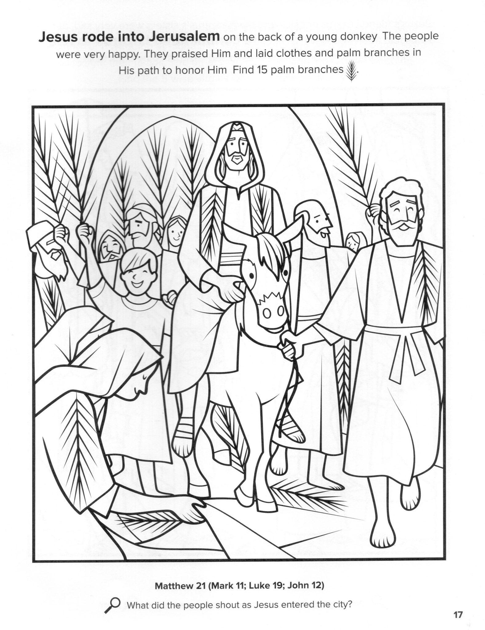 entrada triunfal cristo jesus pascua resurreccion