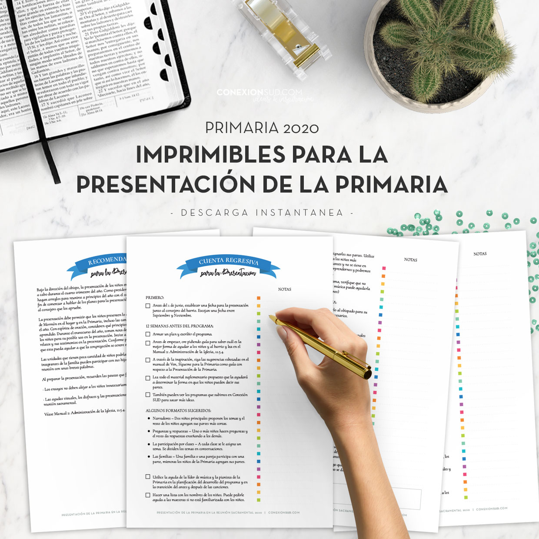 Imprimibles Presentación de la Primaria 2020 El Libro de Mormón