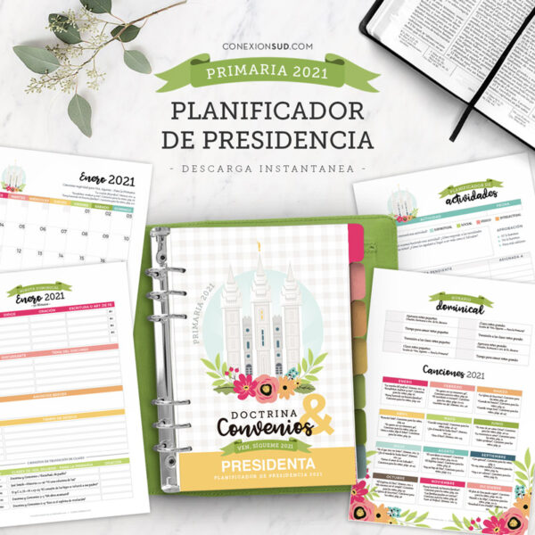 Planificador de la Primaria 2021 | Ven, Sígueme: Doctrina y Convenios | Editable & Imprimible