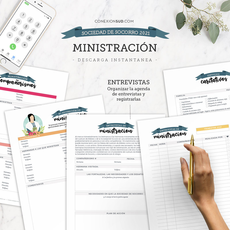 Planificador de la Sociedad de Socorro 2021 | Editable & Imprimible