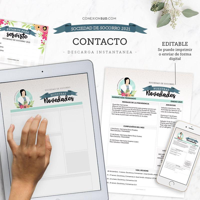 Cartelera de la Sociedad de Socorro 2021 | Editable & Imprimible
