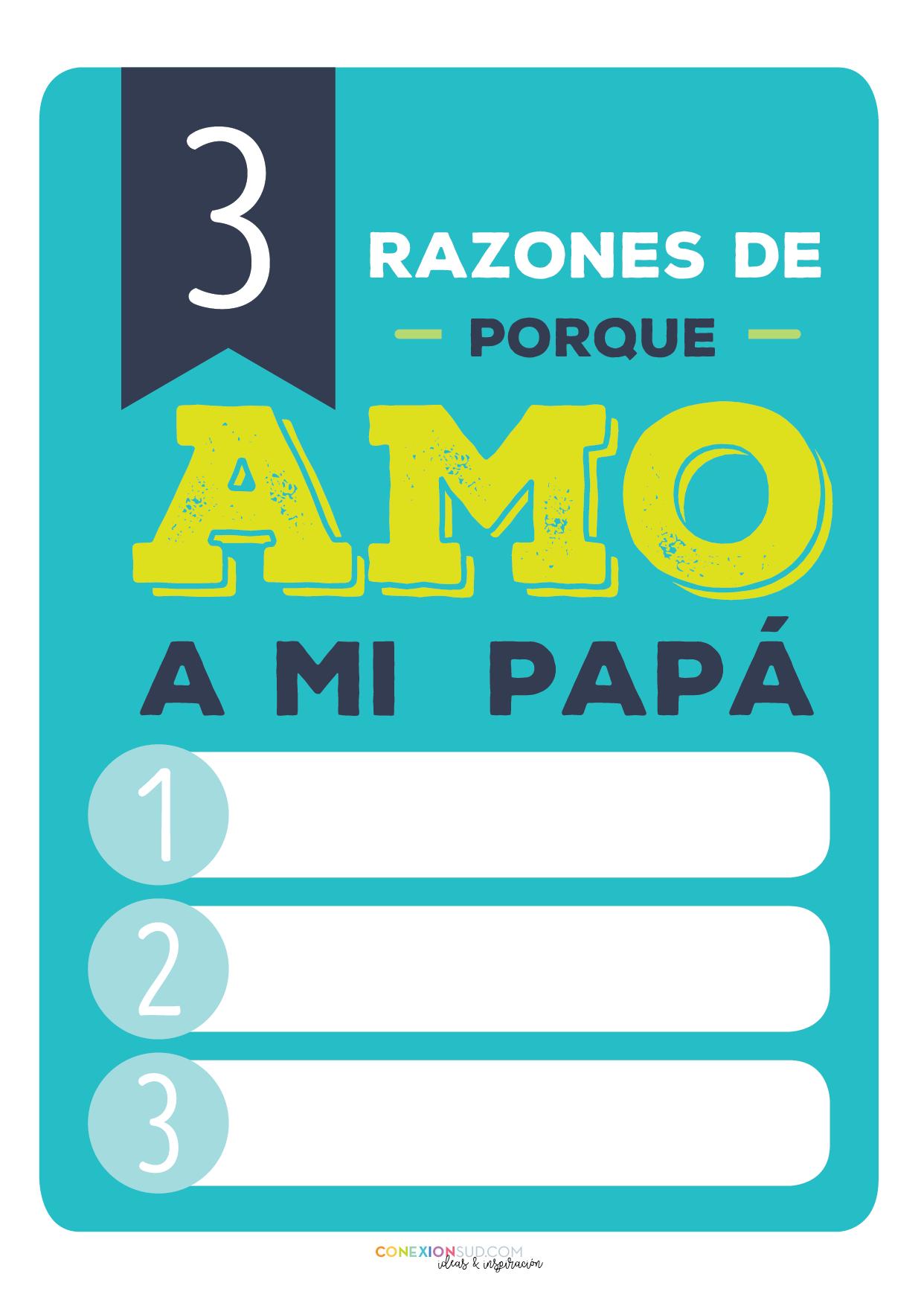 5 razones de porque amo a mi papá - Día del Padre